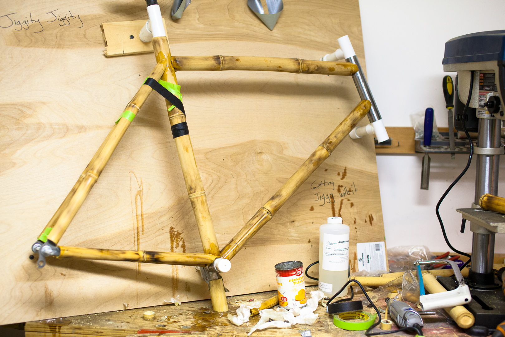 Bamboo Bike Build Part 2 Cutting Things Torching Stuff